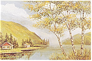 Morris Katz Artwork The Lake Postcard p8559 (Image1)