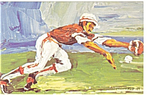 Morris Katz Artwork Pan Am Olympics Baseball Postcard p8580 (Image1)