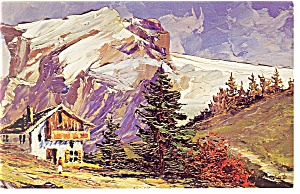 Morris Katz Artwork The Alps Postcard p8588 (Image1)