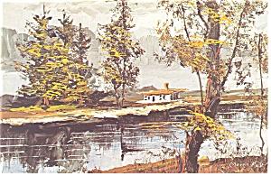 Morris Katz Artwork The House Postcard p8590 (Image1)