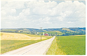 Scene Along A Country Road Postcard P8605