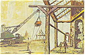Morris Katz Artwork Construction Postcard p8645 (Image1)