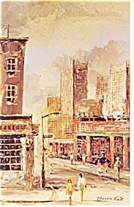 Morris Katz Artwork West 8th Street N Y C Postcard p8646 (Image1)