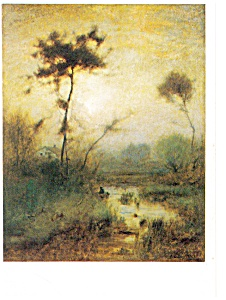 George Inness A Silvery Morning Postcard p8662 (Image1)
