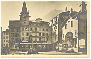 Brigue France Grand Hotel Postcard p8670 (Image1)