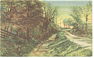 Country Road Linen Postcard