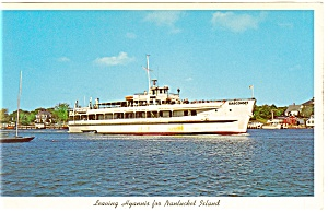 Excursion Boat Siasconset at Hyannis Postcard p8705 (Image1)