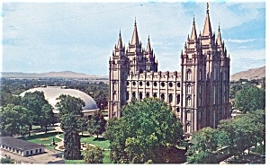 Salt Lake City, UT, Temple Square Postcard (Image1)