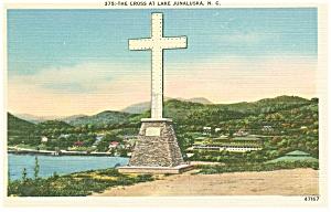 Lake Junaluska NC The Cross  Postcard p8786 (Image1)