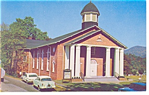 Cullowhee Baptist Church  NC  Postcard p8790 Old Cars (Image1)