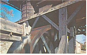 Hopewell Village PA Water Wheel Postcard p8804 (Image1)