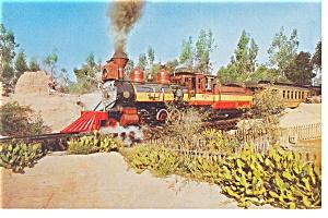 Knotts Berry Farm,CA, Old 41 Steam Train Postcard p8822 (Image1)