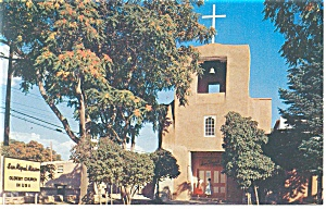 San Miguel Church, Santa Fe, NM Postcard (Image1)