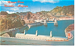 Hoover Dam Nevada Arizona Postcard P8838