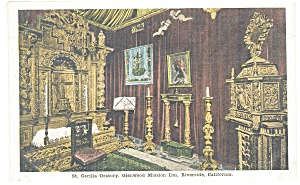 Riverside, CA, Mission Inn Wedding Chapel Postcard (Image1)