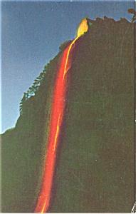 Yosemite National Park CA  Fire Fall at Glacier Point Postcard p8932 (Image1)