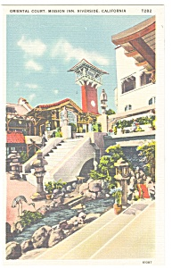 Riverside CA   Mission Inn Oriental Court Postcard p8943 (Image1)