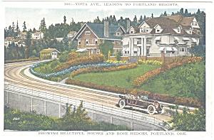 Portland Oregon Vista Avenue Postcard p8953 (Image1)