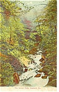 Lower Falls Bushkill Falls PA Postcard p8972 (Image1)