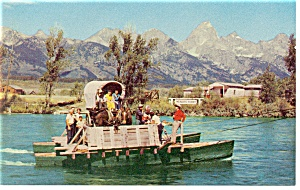 Grand Teton National Park WY Menor s Ferry Postcard p8990 (Image1)