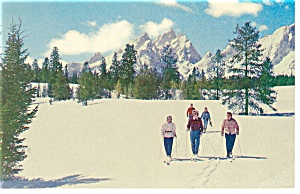Grand Teton National Park, WY,Skiing  Postcard (Image1)