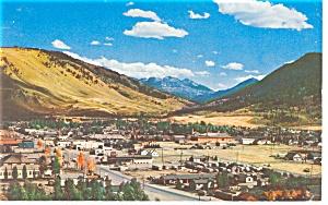 Jackson WY Aerial View Postcard p8994 (Image1)