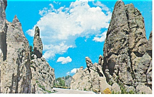 Needles Highway, Black Hills, SD Postcard (Image1)