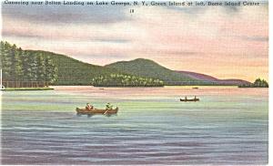 Lake George NY Bolton Landing Linen Postcard p9044 (Image1)
