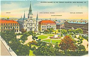 New Orleans,LA, Jackson Square Linen Postcard (Image1)