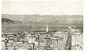 San Francisco CA and Bay Postcard p9120 (Image1)