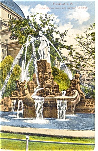 Frankfurt am Main Germany Fountain Postcard p9137 (Image1)