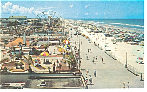 Daytona Beach FL Boardwalk Postcard p9150 (Image1)