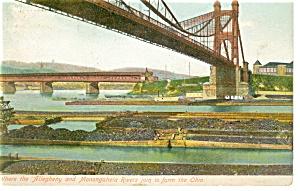 Pittsburgh PA Origin of The Ohio River Postcard p9151 (Image1)