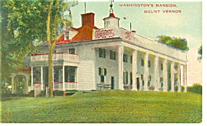 George Washington S Mansion Mount Vernon Postcard P9172