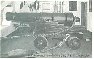 Frigate Constitution 24 Pound Long Gun Postcard p9197 (Image1)