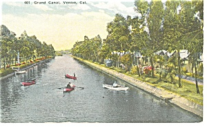 Venice CA The Grand Canal Postcard p9210 (Image1)