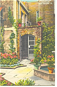 New Orleans,LA, Little Theatre Courtyard Postcard (Image1)