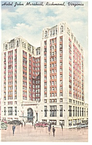 Richmond, VA, Hotel John Marshall Postcard (Image1)