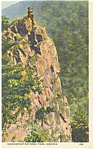 Skyline Drive VA Crescent Rock Postcard p9221 (Image1)