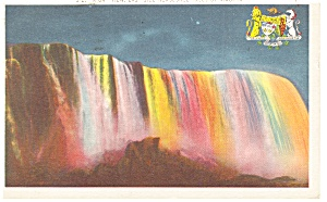 Niagara Falls, Horseshoe Falls at Night Postcard (Image1)