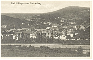 Bad Kissingen Germany View From Stationsberg Postcard P9247