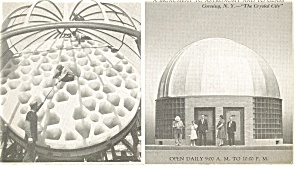 Corning  NY Telescope Disc and Civic Museum Postcard p9265 (Image1)