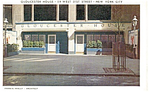 New York City Exterior of The Gloucester House Postcard p9284 (Image1)
