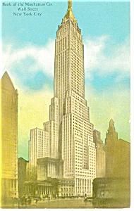 Bank of the Manhattan Co. Bldg, New York Postcard (Image1)