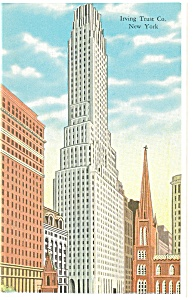 Irving Trust Co.,Bldg, New York Postcard (Image1)
