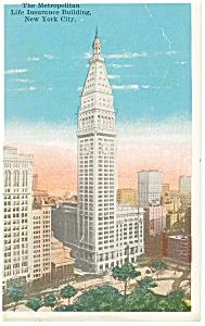 Metropolitan Life Building New York Postcard p9347 (Image1)