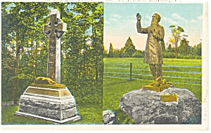 Gettysburg PA Father Corby Statue, Postcard p9353 (Image1)