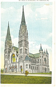 Pittsburgh Pa St Paul S Cathedral Postcard P9364