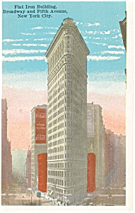 New York City NY Flat Iron Building Postcard p9371 (Image1)