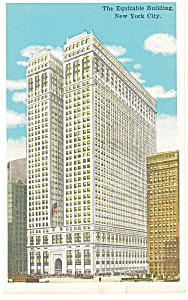 New York City NY The Equitable Building Postcard p9374 (Image1)